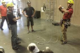 Rope access trainer reviews rope training