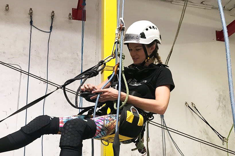 Rope access technician trainee